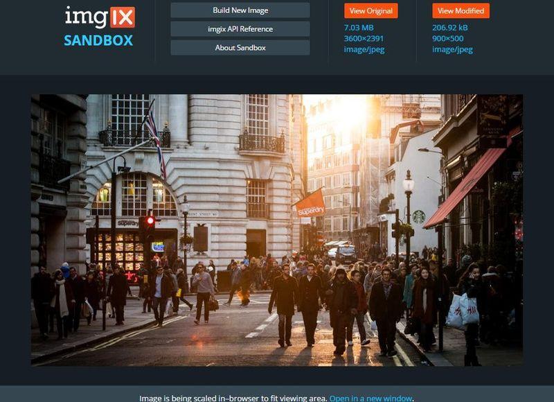 Imgix Sandbox: aplicación web gratis para comprimir imágenes