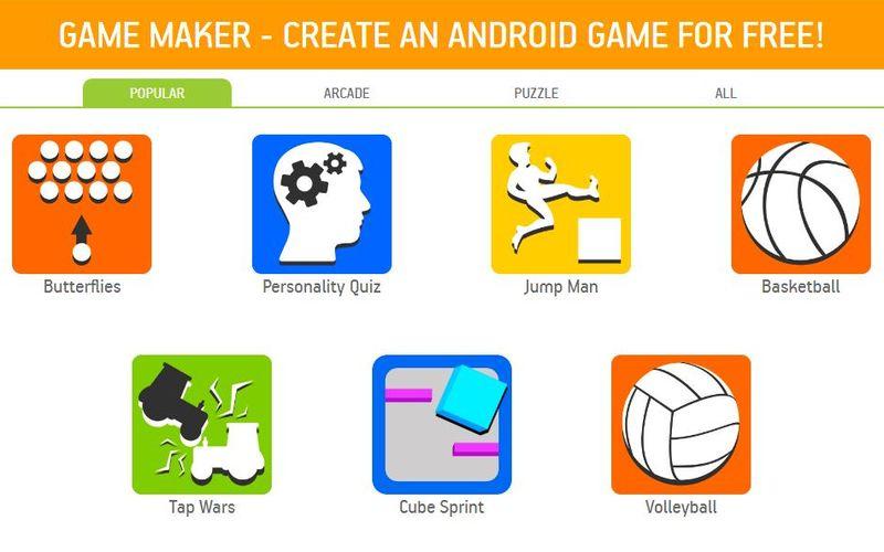 2 Paginas Para Crear Juegos Android Gratis Y Sin Programar