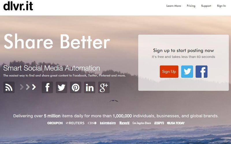 Programar publicaciones sociales cómodamente con Dlvr.it