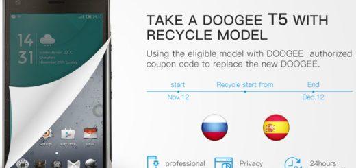 Recicla tu antiguo Doogee para conseguir un descuento en el Doogee T5