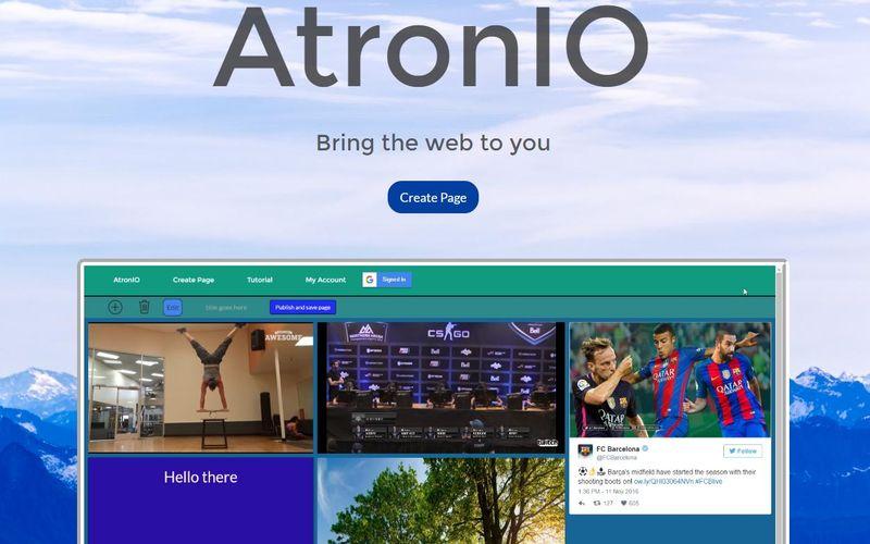 AtronIO: la solución más sencilla para crear gratis una página personal