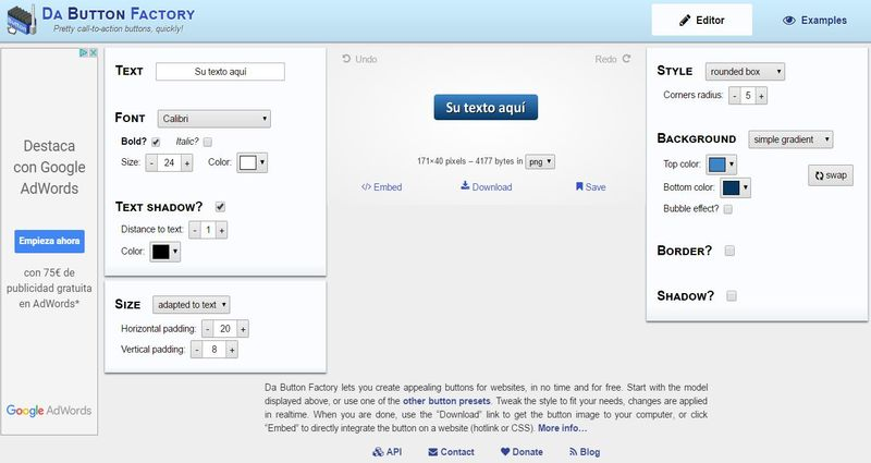 3 páginas para crear botones para la web online y gratis