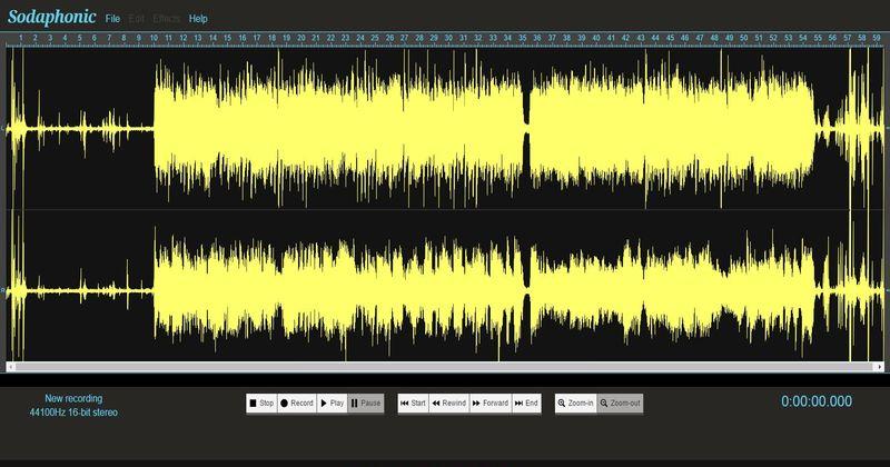 Sodaphonic editar audio online Sodaphonic: editor de audio online gratuito que te va a gustar