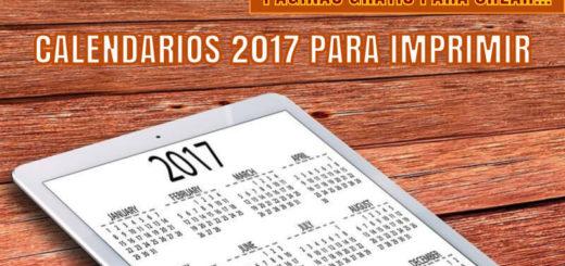 3 páginas gratis para generar tu Calendario 2017 para imprimir