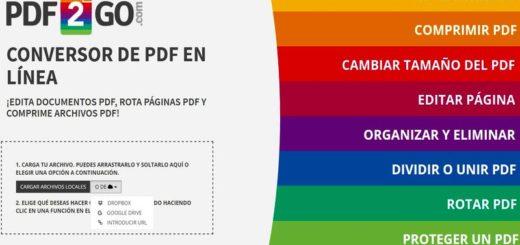 Pdf2Go: genial aplicación web para editar y convertir documentos PDF