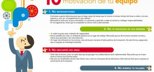 10 Reglas para mantener la Motivación de tu Equipo de trabajo