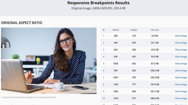 Responsive Image Breakpoints Generator Responsive Image Breakpoints Generator: crea sets de imágenes optimizadas para la web