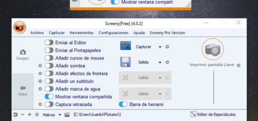 Screeny Free: tal vez el mejor software para captura de pantalla
