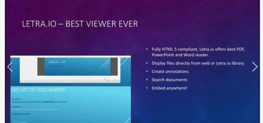 Letra: aplicación web que convierte documentos PPT, Word y PDF a presentaciones HTML5