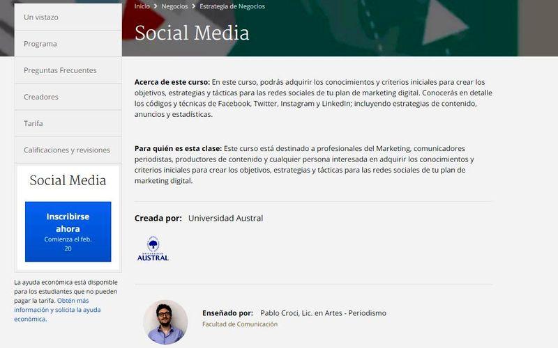 Curso gratuito sobre Estrategias para las Redes Sociales Curso gratuito sobre Estrategias para las Redes Sociales
