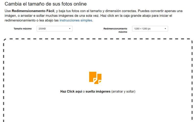 Redimensionar imágenes online Redimensionar imágenes online y gratis con Easy Resize