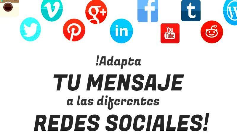 Adaptar tus publicaciones a las Redes Sociales ¿Cómo adaptar tus publicaciones a cada una de las Redes Sociales?