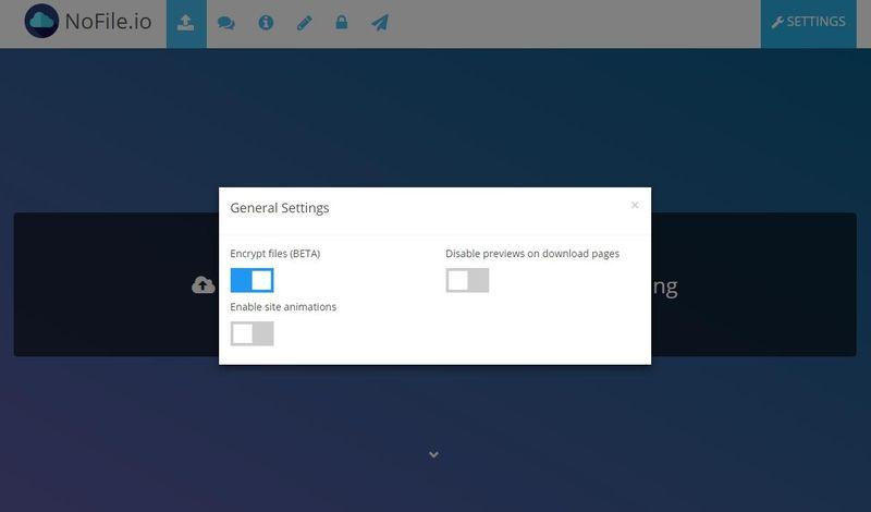 Compartir archivos cifrados de hasta 10 GB de forma gratuita con NoFile