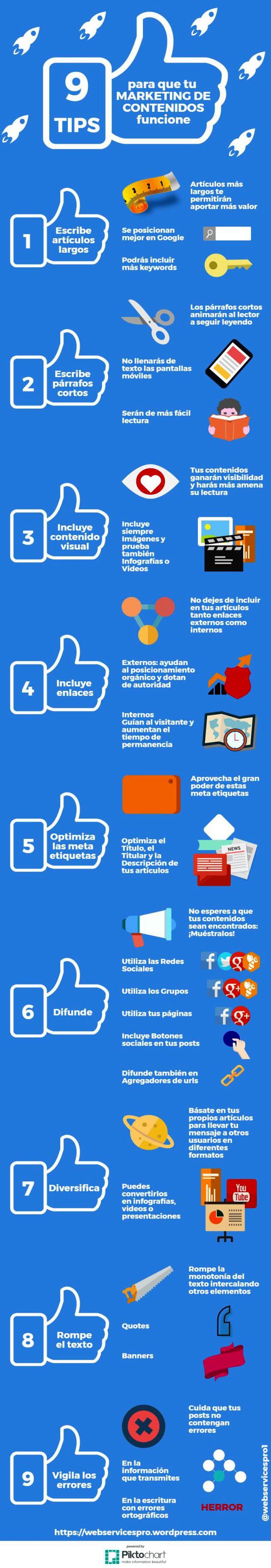 9 consejos para Marketing de Contenidos efectivo y con resultados