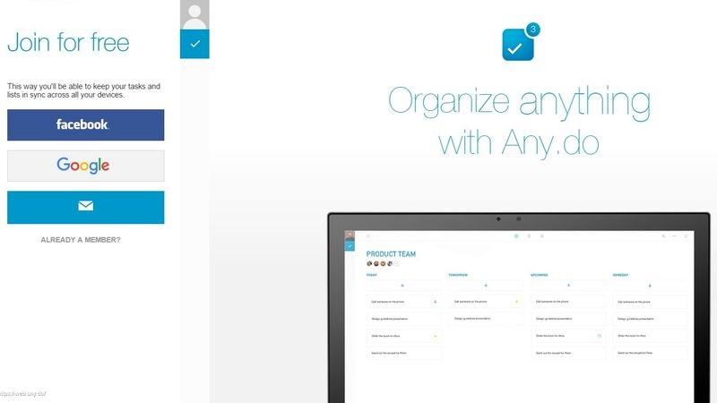 Crear y gestionar listas de tareas Anydo 3 páginas gratuitas para crear y gestionar listas de tareas fácilmente