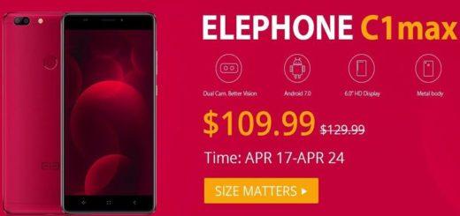 Elephone C1 Max: smartphone con doble cámara y Android 7.0 a precio de ganga