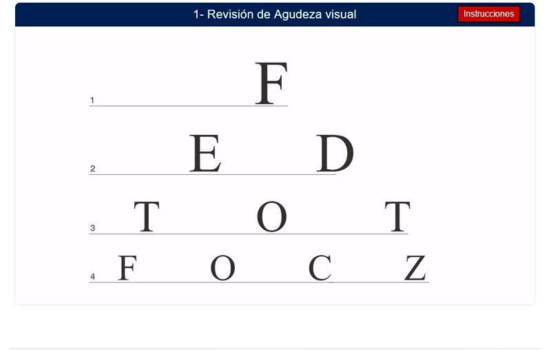 Test de visión online y gratuito para detectar posibles problemas visuales