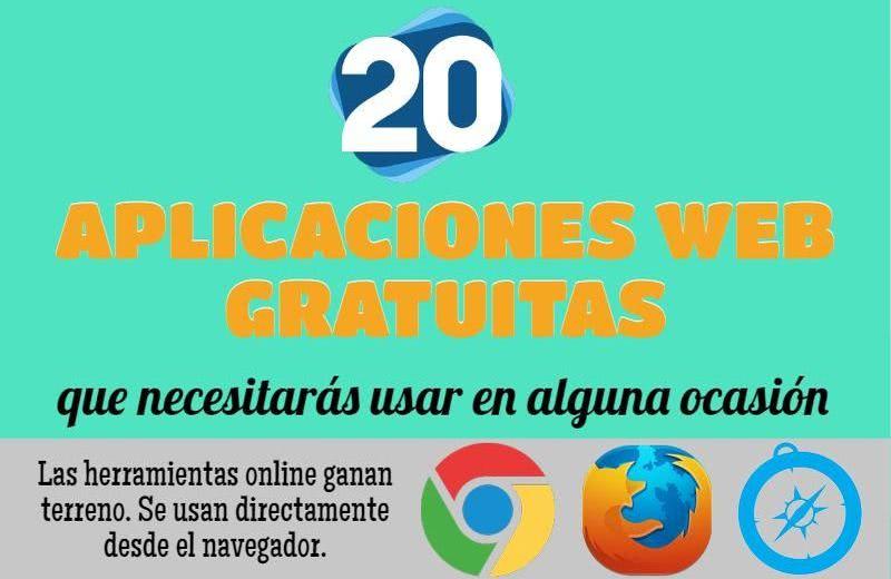 20 aplicaciones web gratuitas que necesitarás usar en alguna ocasión