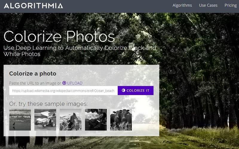 Colorear fotos antiguas online - Algorithmia