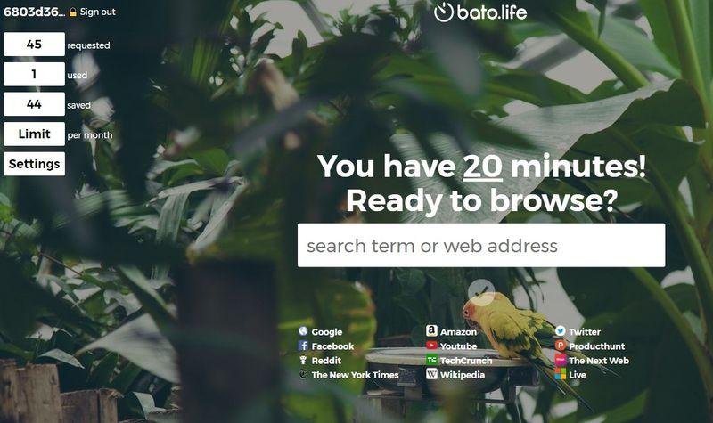 Aplicación web para controlar el tiempo que pasas navegando por la web