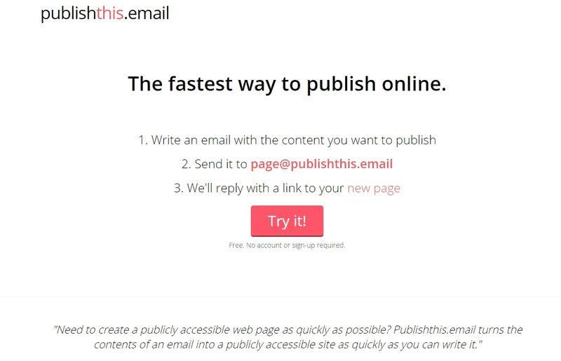 Crear una página gratis de la forma más sencilla, enviando un correo