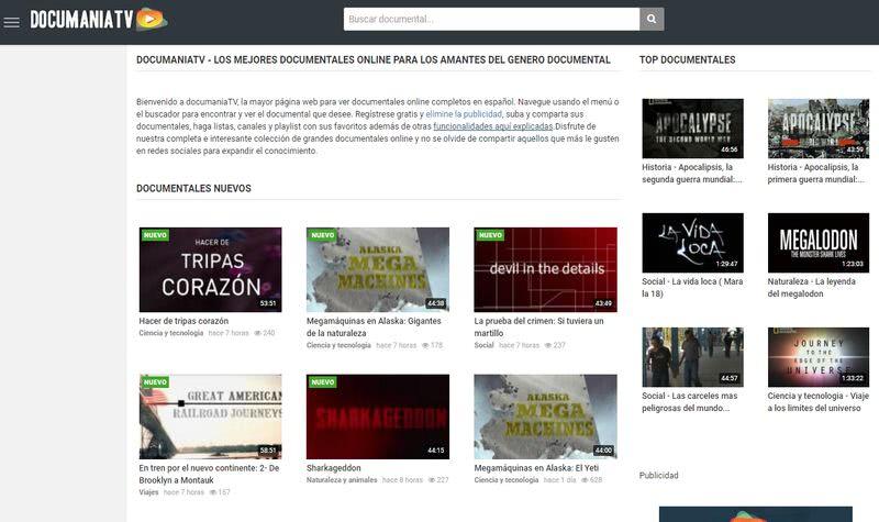 DocumaniaTV: la página que encanta a los amantes de los documentales