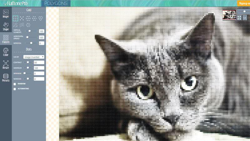 HalftonePro editor HalftonePro: web para decorar tus fotos con bellos patrones de fondo