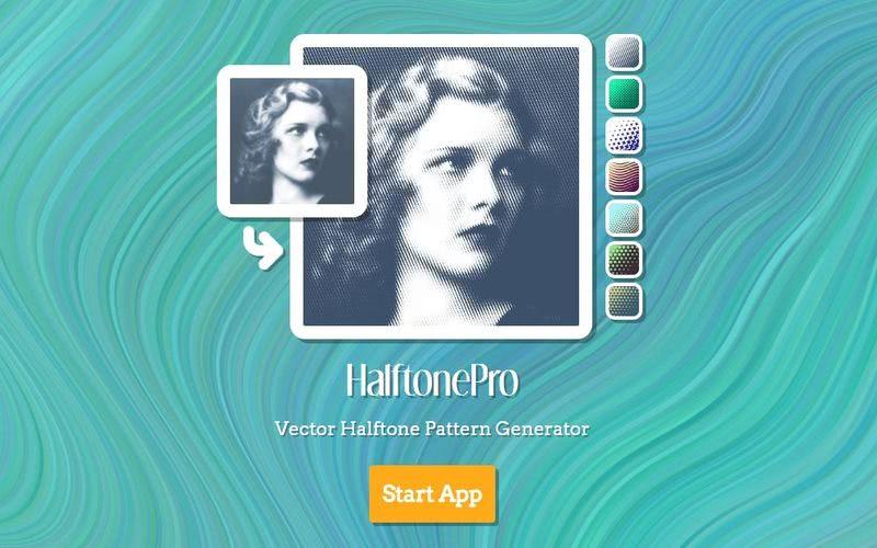 HalftonePro HalftonePro: web para decorar tus fotos con bellos patrones de fondo