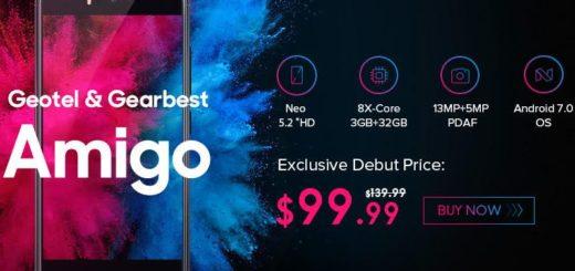 Amigo de Geotel, impresionante teléfono a solo $99.99 en Gearbest