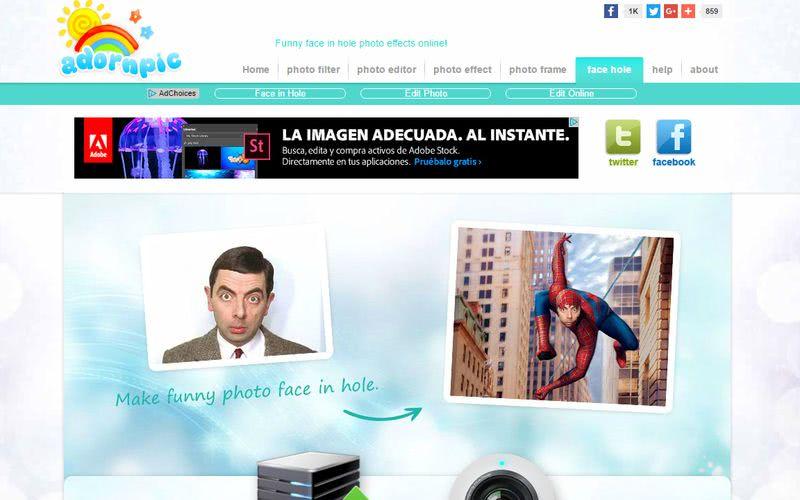 Crear fotomontajes gratis online Adornpic Crear fotomontajes gratis online con estas 10 páginas