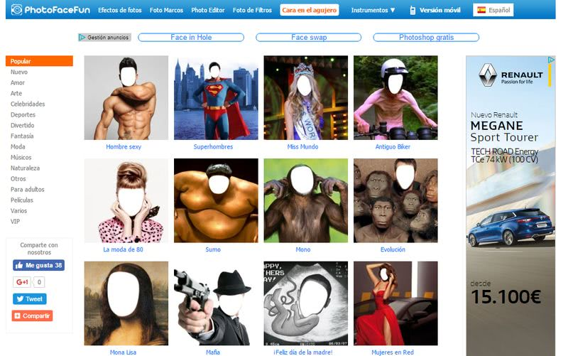 Crear fotomontajes gratis online PhotoFaceFun Crear fotomontajes gratis online con estas 10 páginas