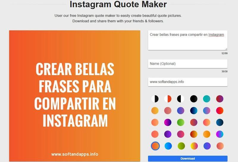 Crear imágenes con frases para Instagram y otras redes sociales
