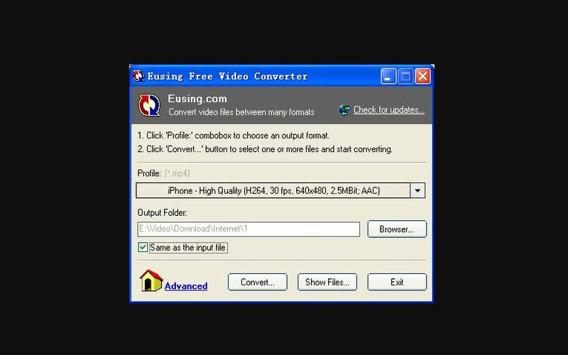 Eusing Free Video Converter Eusing Free Video Converter: software gratuito para convertir archivos de vídeo