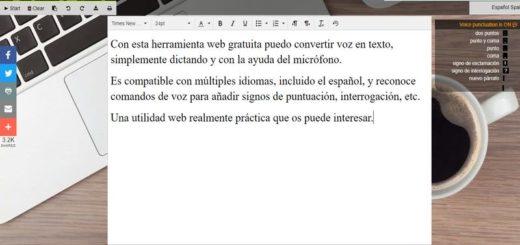 SpeechTexter: genial aplicación web para pasar voz a texto