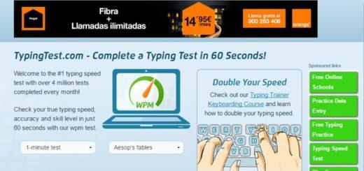 TypingTest: página para comprobar tu velocidad de escritura