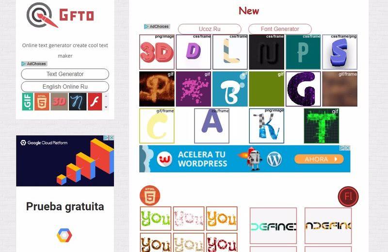 Crear imágenes con palabras y texto con esta aplicación web gratuita
