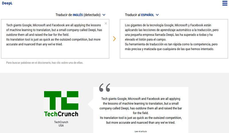 Traductor web gratuito que supera a Google y alternativas, es DeepL