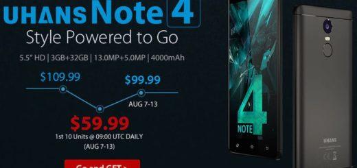 Uhans Note 4 a precio único aprovechando su venta flash