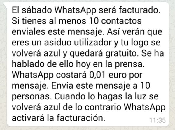Cómo detectar estafas en WhatsApp - cadenas
