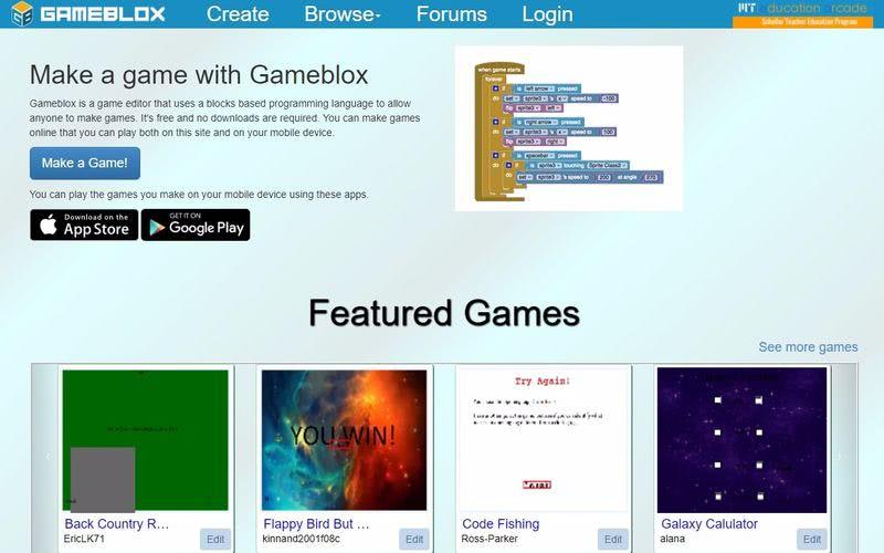 Gameblox: plataforma educativa para crear juegos sin programar