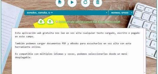 Lector de textos con voz gratuito, también documentos PDF y eBooks