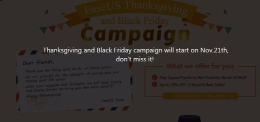 EaseUS lanza campaña de Acción de Gracias y Black Friday