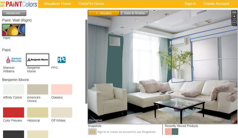 3 aplicaciones web para simulador de pintar casas gratis - Simulador de interiores ...
