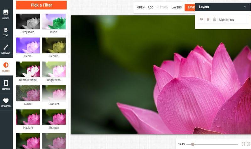 Bear Image: un buen editor de imágenes gratuito y online