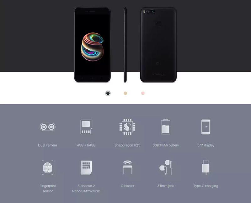 Smartphone XiaoMi Mi A1: espectacular teléfono ahora al mejor precio