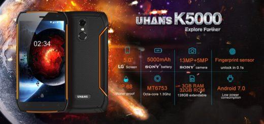 UHANS K5000: impresionante teléfono rugerizado ya a la venta