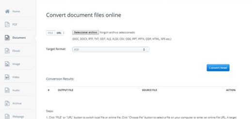 Aconvert: convertir y editar online todo tipo de archivos y documentos