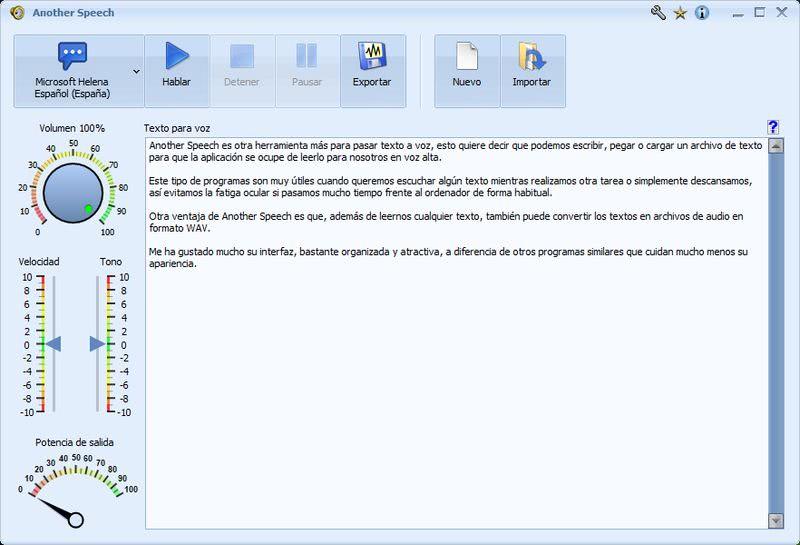 Another Speech: software gratuito para pasar texto a voz