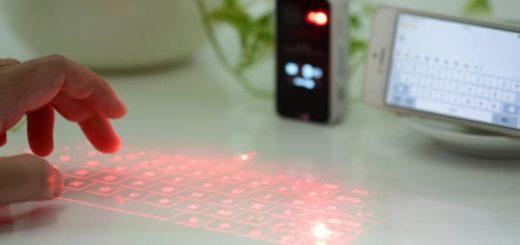 Teclado virtual de proyección para tu teléfono y otros dispositivos
