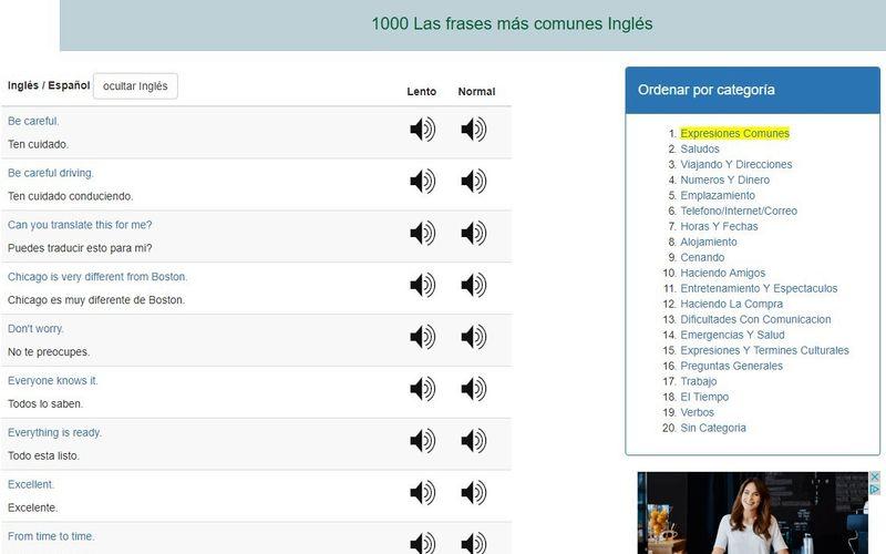 1000 Frases Más Usadas En Inglés Y Sus Pronunciaciones